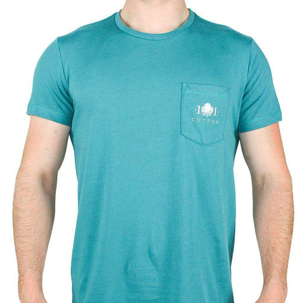 Back to Basics Pocket Tee in Hunter Green by Cotton 101 - FINAL SALE