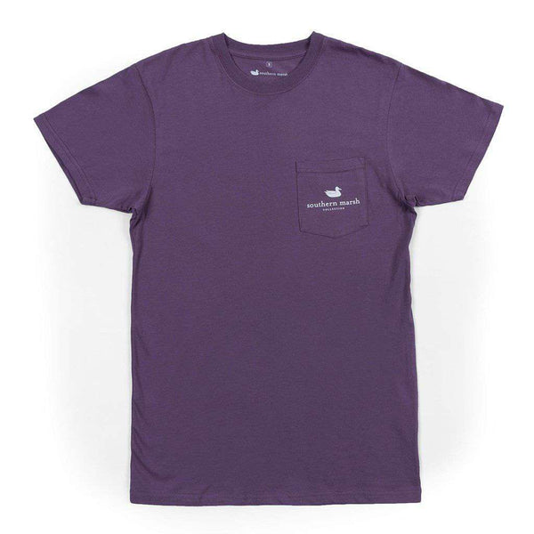 Men's Tee Shirts - Backroads Collection - Louisiana Tee In Iris By Southern Marsh