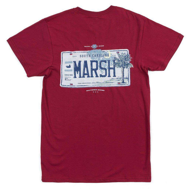 Men's Tee Shirts - Backroads Collection - South Carolina Tee In Maroon By Southern Marsh