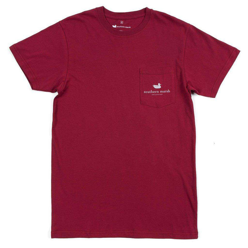 Backroads Collection - South Carolina Tee in Maroon by Southern Marsh