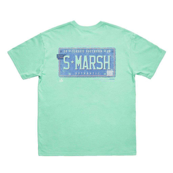 Men's Tee Shirts - Backroads Collection - Trademark Tee In Bimini Green By Southern Marsh