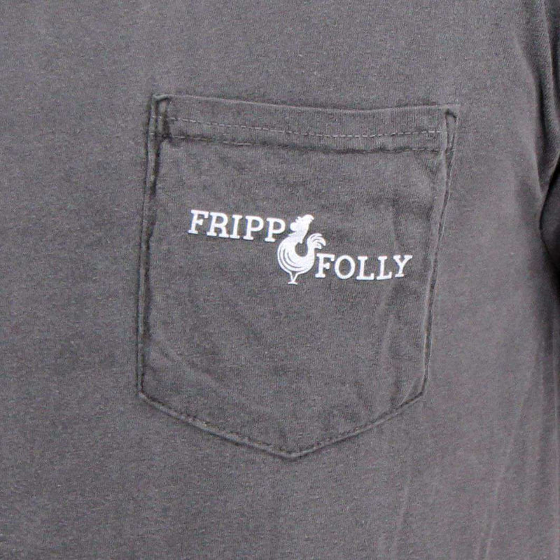 Men's Tee Shirts - Banjo Tee In Pepper Grey By Fripp & Folly