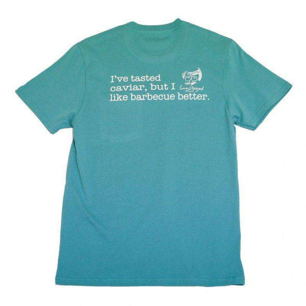 Men's Tee Shirts - Barbecue Is Better Pocket Tee In Seafoam Green By Peach State Pride