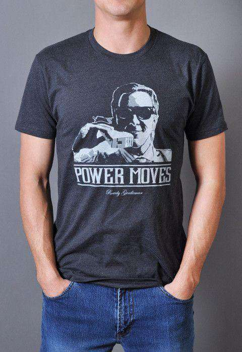 Bateman Power Moves Vintage Tee in Charcoal Gray by Rowdy Gentleman - FINAL SALE