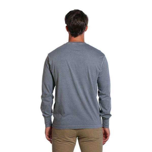Bear Logo Long Sleeve Tee in Grey by The Normal Brand