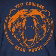 Men's Tee Shirts - Bear Proof Tee Shirt In Navy By YETI