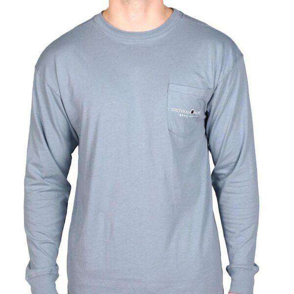 Beau Basics Long Sleeve Tee Shirt in Faded Blue by Southern Proper