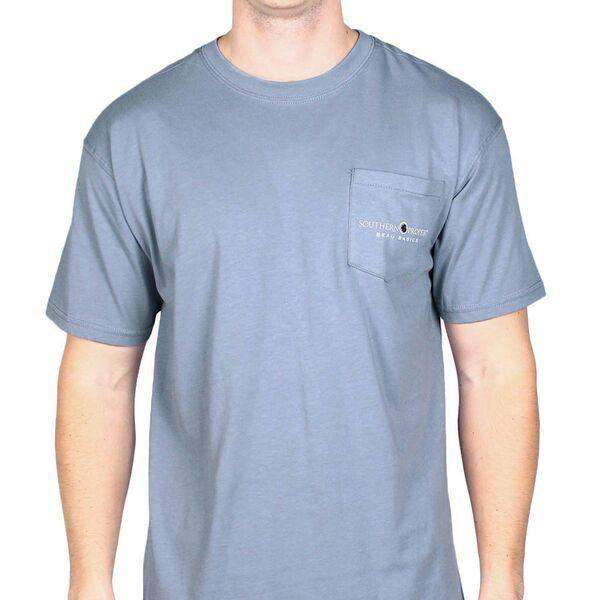 Men's Tee Shirts - Beau Basics Tee Shirt In Faded Blue By Southern Proper