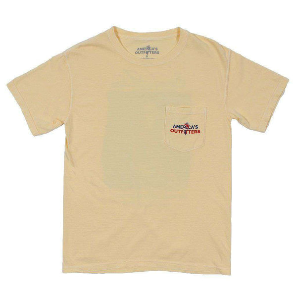 Men's Tee Shirts - Beer And Taxes Tee In Butter By America's Outfitters - FINAL SALE