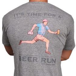 Men's Tee Shirts - Beer Run Tee In Grey By Southern Proper