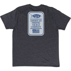 Men's Tee Shirts - Big Boy Tee Shirt In Charcoal Heather By AFTCO