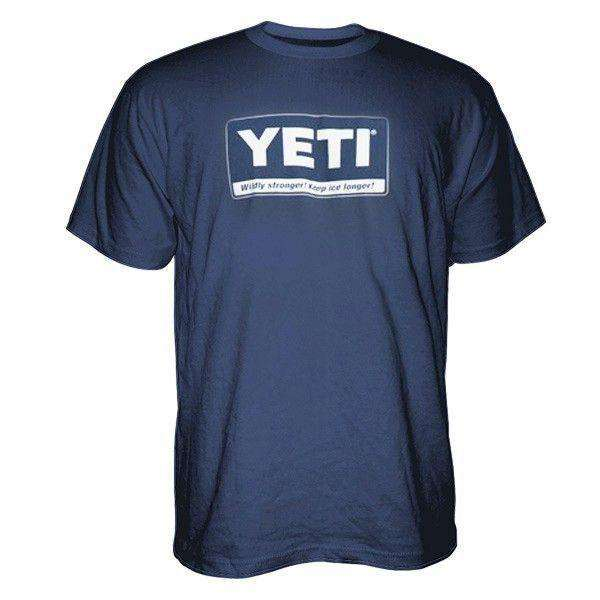 Men's Tee Shirts - Billboard Logo Tee Shirt In Navy By YETI