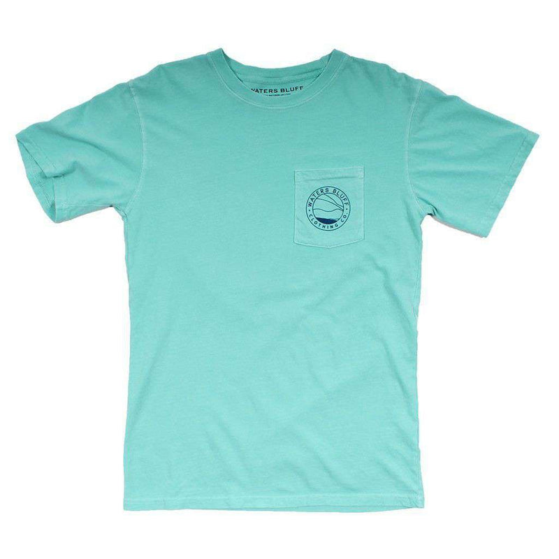 Men's Tee Shirts - Bluff Horizon Tee Shirt In Chalky Mint By Waters Bluff