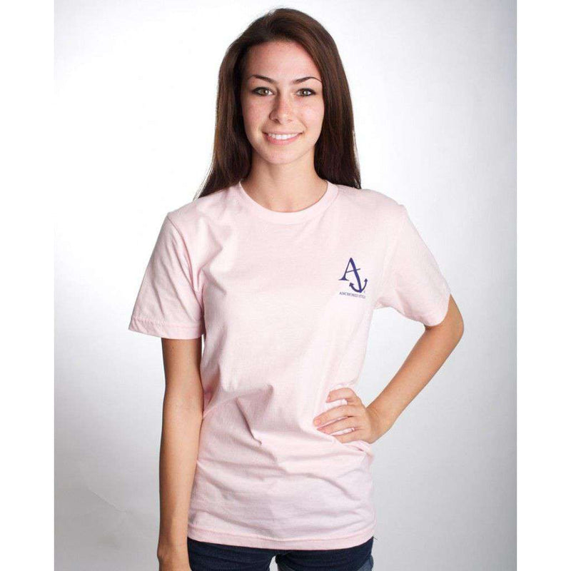 Boat Shoes, Bow Ties and America Tee Shirt in Light Pink by Anchored Style - FINAL SALE