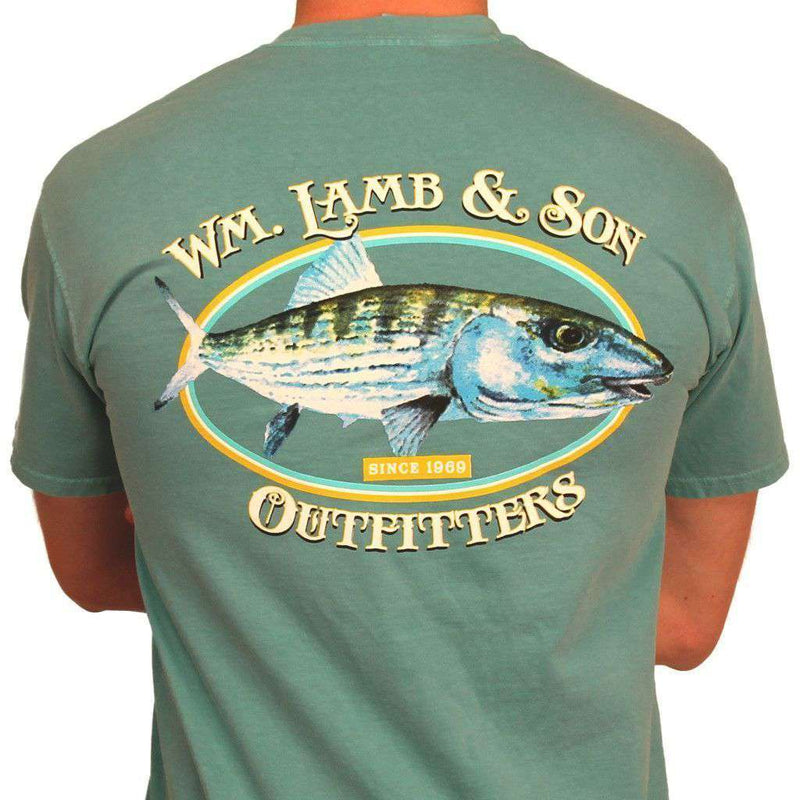 Bonefish Original Watercolor Tee in Seafoam Green by WM Lamb & Son - Country Club Prep