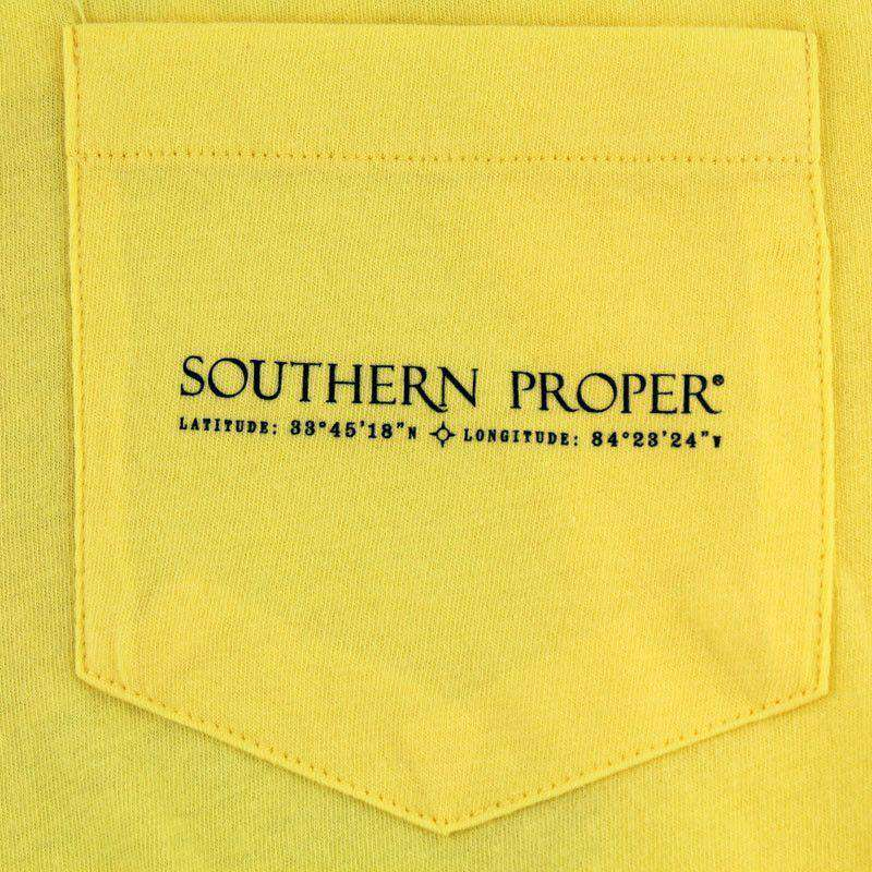 Men's Tee Shirts - Born And Bred Tee In Yellow By Southern Proper