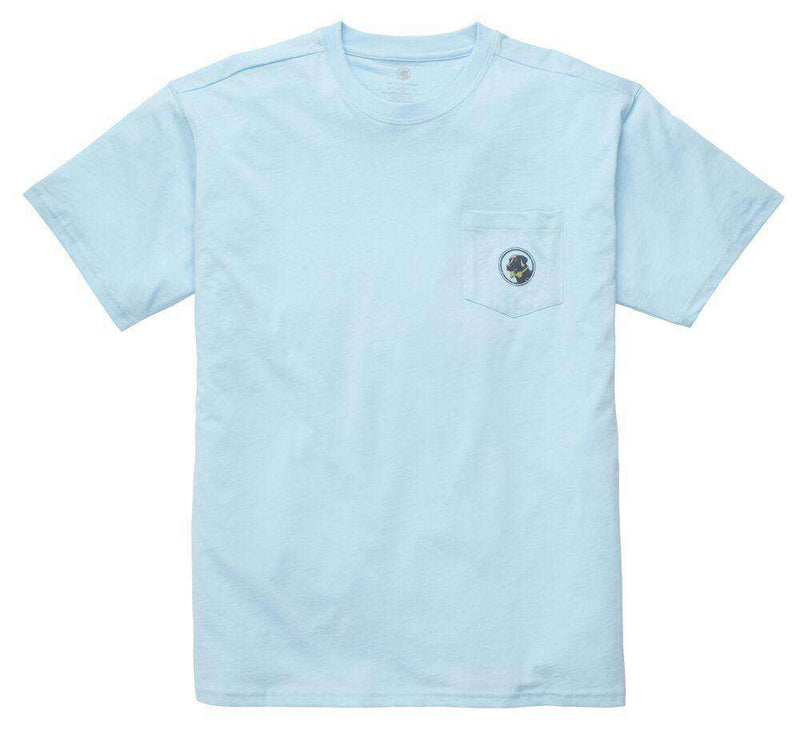 Men's Tee Shirts - Born In The South Tee In Sky Blue By Southern Proper