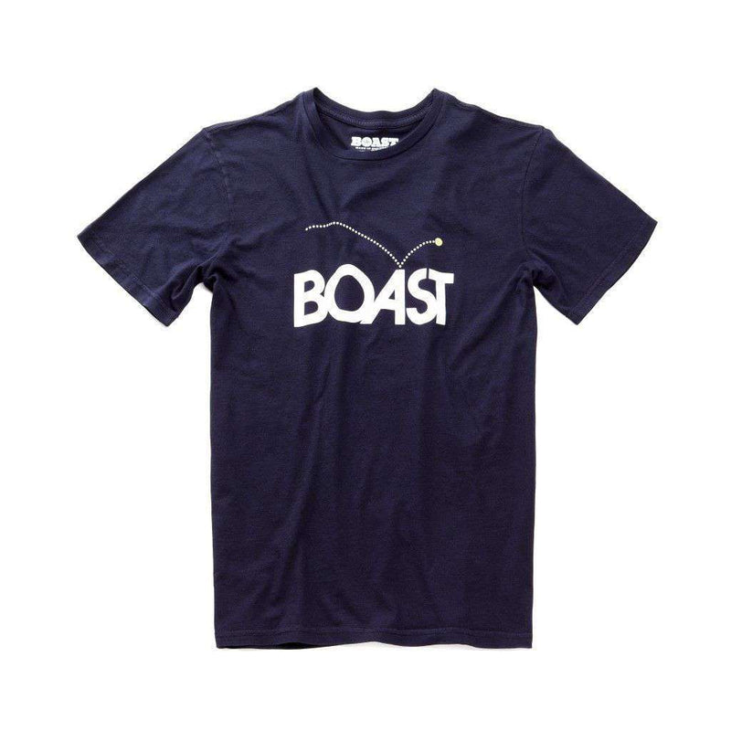Men's Tee Shirts - Bounce Tee In Navy By Boast - FINAL SALE