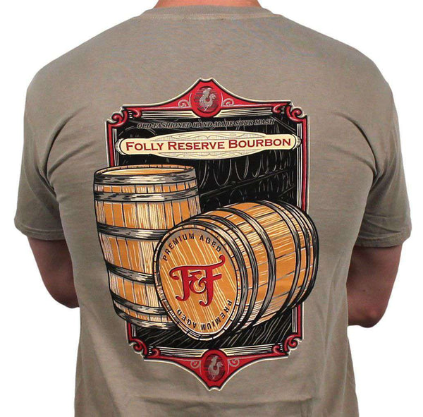 Men's Tee Shirts - Bourbon Barrel Tee In Sandstone By Fripp & Folly