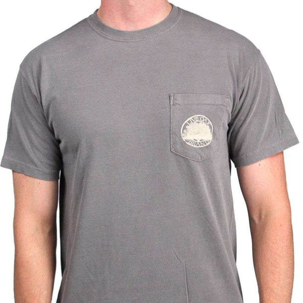 Bourbons of the South Short Sleeve Pocket Tee in Grey by Live Oak