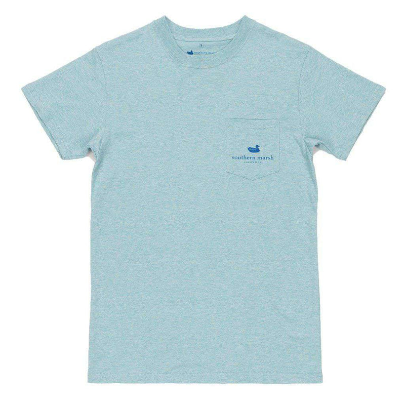 Branding Collection - Flying Duck Tee in Washed Moss Blue by Southern Marsh - FINAL SALE
