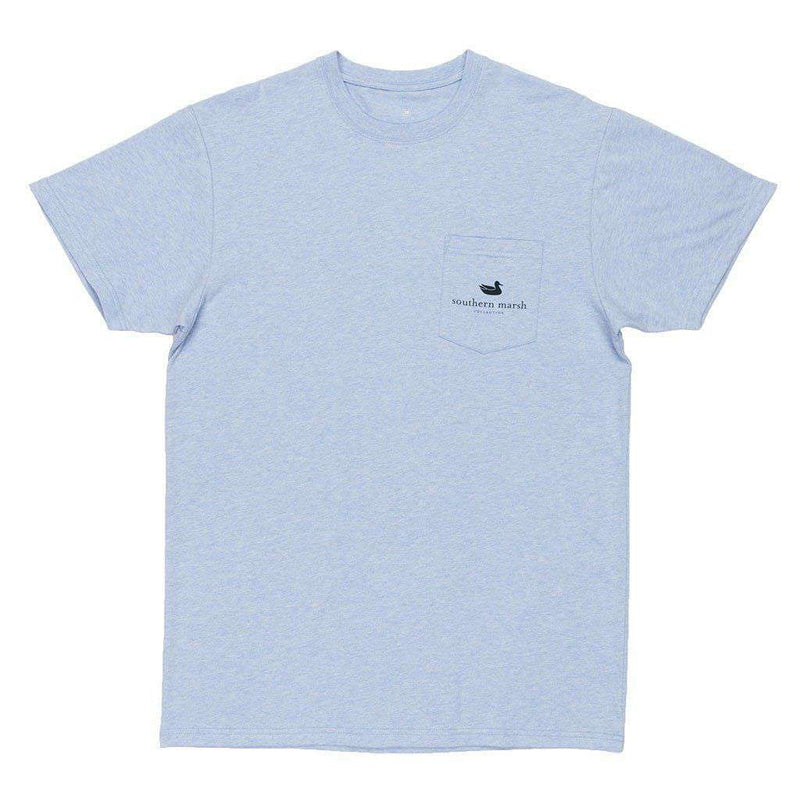 Branding Collection - Hunting Dog Tee in Washed Sky Blue by Southern Marsh - FINAL SALE