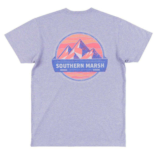 Men's Tee Shirts - Branding Collection - Summit Tee In Washed Berry By Southern Marsh