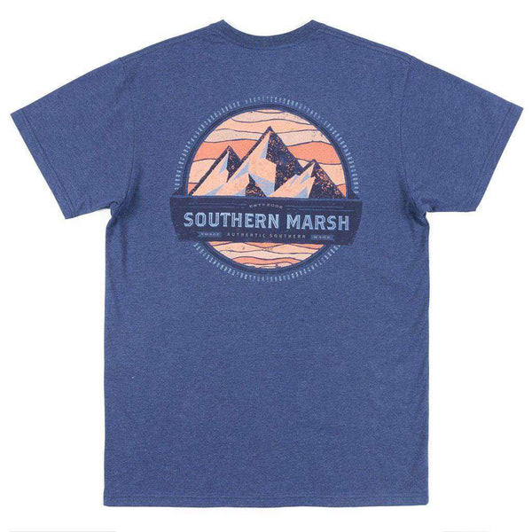 Men's Tee Shirts - Branding Collection - Summit Tee In Washed Navy By Southern Marsh