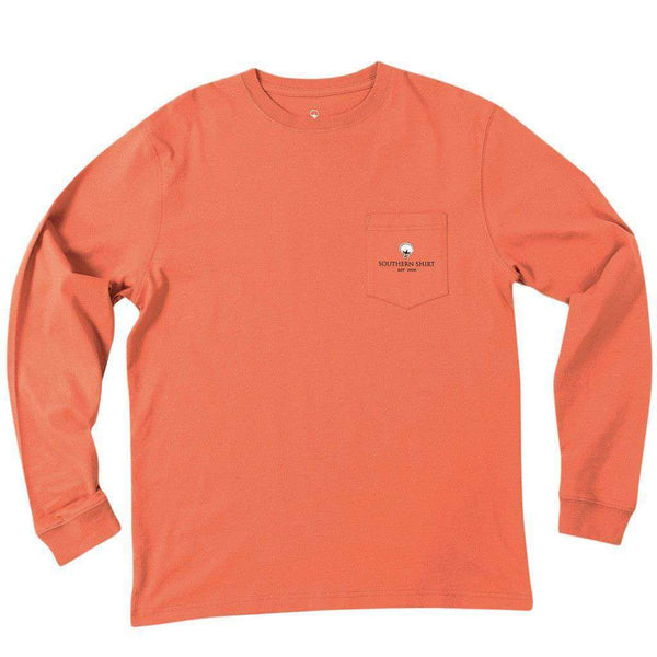 Buffalo Nickel Long Sleeve Tee Shirt in Ginger Spice by The Southern Shirt Co. - FINAL SALE