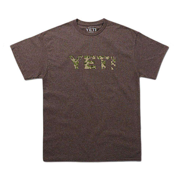 Men's Tee Shirts - Camo Logo Tee In Vintage Brown By YETI