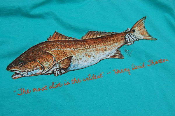 Men's Tee Shirts - Catch And Release Pocket Tee In Seagrass Green By Atlantic Drift - FINAL SALE