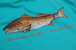 Catch and Release Pocket Tee in Seagrass Green by Atlantic Drift - FINAL SALE