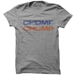 Men's Tee Shirts - Chomp Chomp Tee In Grey By One 10 Threads - FINAL SALE