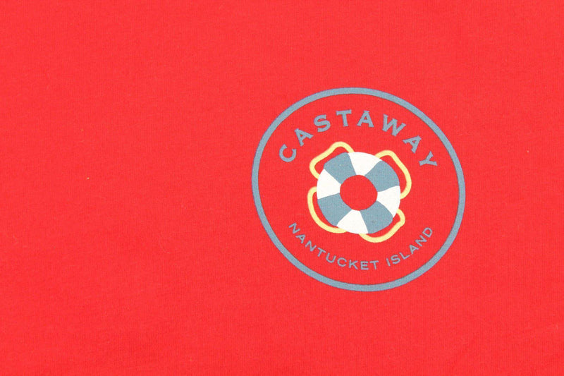 Christmas Dingy T-Shirt in Red by Castaway Clothing