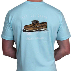 Men's Tee Shirts - Classic Boat Shoe Tee In Light Blue By Southern Point Co.