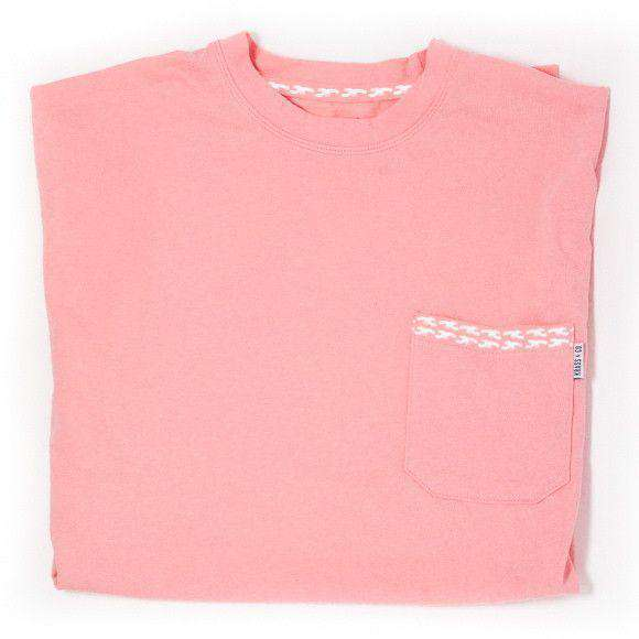 Men's Tee Shirts - Classic Lobster Pocket Tee Shirt In Coral By Krass & Co.
