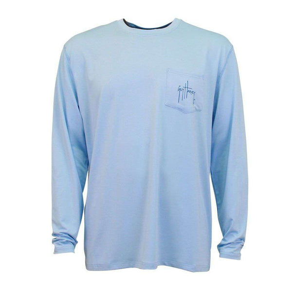 Clipper Long Sleeve Pro UVX Performance Shirt in Light Blue by Guy Harvey