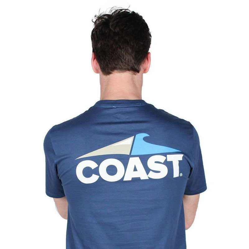 Men's Tee Shirts - Coast Logo Tee In Navy By Coast
