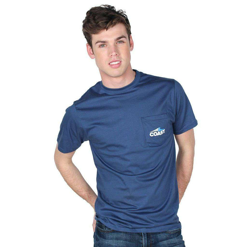 Coast Logo Tee in Navy by Coast