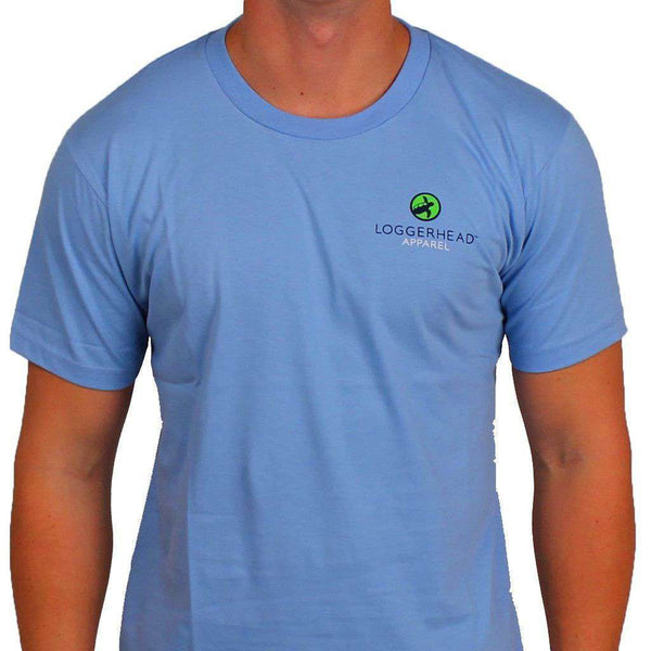 Coasts Mission Tee in Battery Blue by Loggerhead Apparel - FINAL SALE