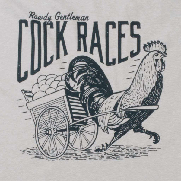 Cock Races Vintage Tee in Silk by Rowdy Gentleman - FINAL SALE
