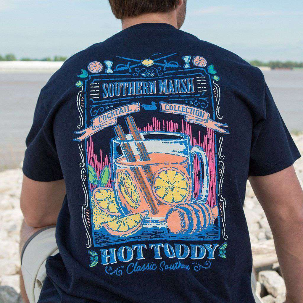 Southern Marsh Cocktail Collection Hot Toddy Tee In Navy