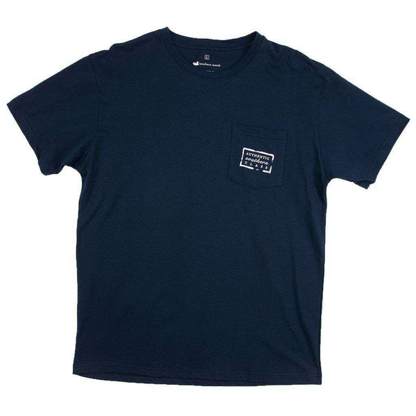 Collegiate Authentic Tee in Navy with Orange Duck by Southern Marsh