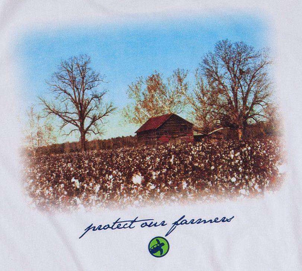 Cotton Farmer's Tee in White by Loggerhead Apparel - FINAL SALE