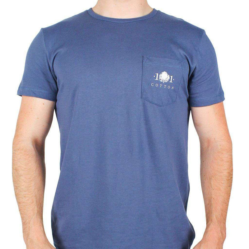 Cotton Field Pocket Tee in Navy by Cotton 101 - FINAL SALE