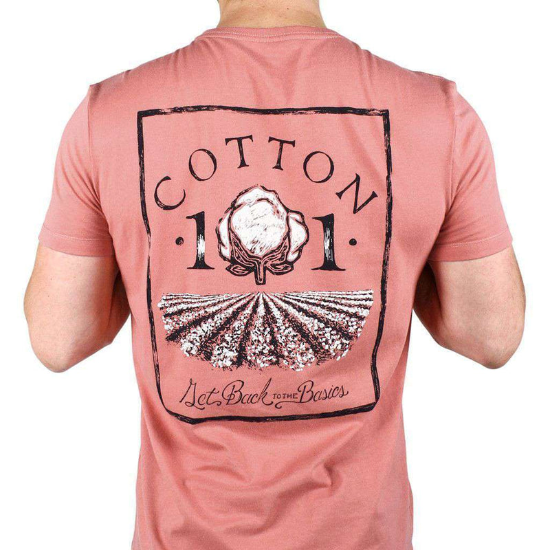 Men's Tee Shirts - Cotton Field Pocket Tee In Rustic Red By Cotton 101 - FINAL SALE