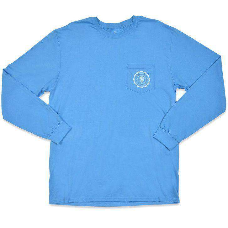 Cotton is King Long Sleeve Pocket Tee in Harbor Blue by High Cotton - FINAL SALE