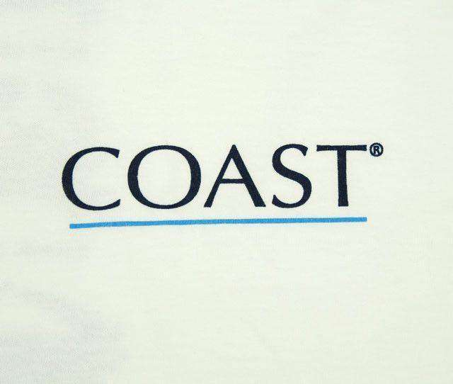 Men's Tee Shirts - Crab Chart Tee By Coast - FINAL SALE