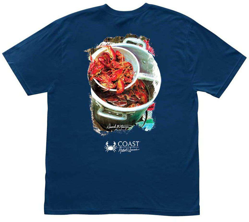 Men's Tee Shirts - Crawfish Boil Tee By Coast - FINAL SALE