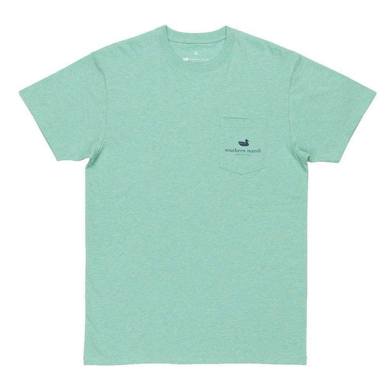 Men's Tee Shirts - Crawfish Festival Series Tee In Washed Bimini Green Heather By Southern Marsh